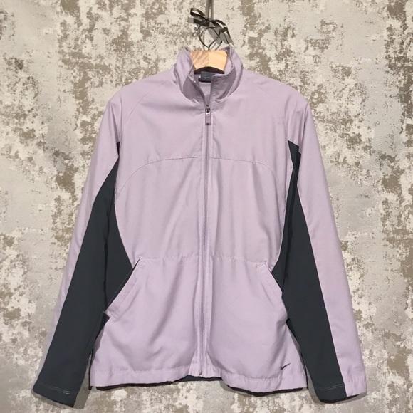 Nike Jackets & Blazers - Nike Lilac/Lavender & Grey Zip Up Running Jacket